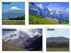 planina na slovo A